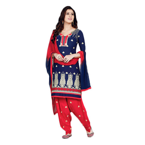 0ebbb89efb Red And Blue Patiala Suit at Rs 900 /piece | Null Bazar | Mumbai ...