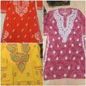 Ladies Embroidered Cotton Kurtis