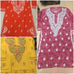 Ladies Embroidered Cotton Kurtis
