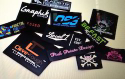 Black Printed Woven Labels