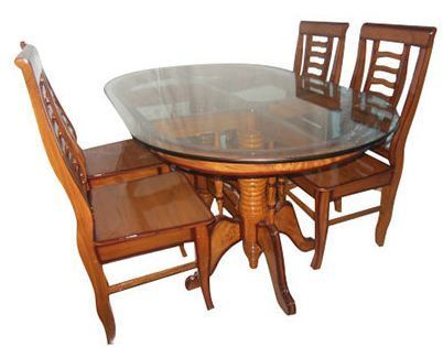 Teak wooden dining table Furniture Dining Teak Wood Dining Table Sets Indiamart Teak Wood Dining Table Sets Wooden Furniture Santragachi Howrah