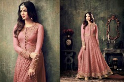 4 Colours Chiffon Designer Anarkali Suit