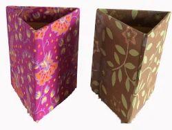 Handmade Paper Triangular Pen Stand
