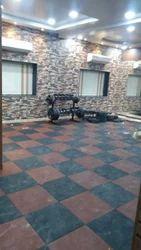 100 Sq Ft Rubber Flooring Service, Educational Institute, Pune