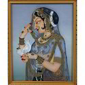 Mughal Lady Messenger Pigeon Painting
