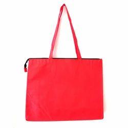 Red Loop Handle Non Woven Zipper Bag