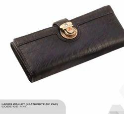 Brown Women Leather Wallet