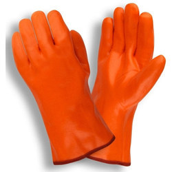 Orange Unisex Rubber Hand Gloves, For Industry/material Handling/assembly