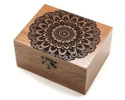 Polished Brown Wooden Jewellery Box