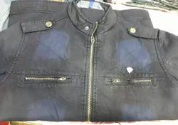 Medium And Large Black And Blue Washing Gents Denim Jackets