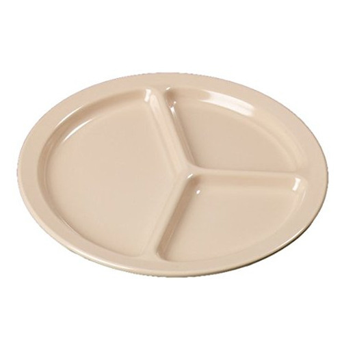 3 Compartment Plastic Plate