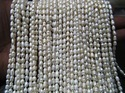 Natural Fresh Water Rice Pearl 5-6 Mm Long Beads 13 Inches Long Strand