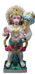 White Marble Standing Hanuman Ji Statue