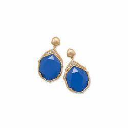 Blue Kundan Earring