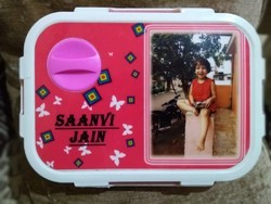Pink Personalized Photo Tiffin For Kids