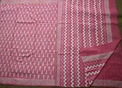 Cotton Hand Block Printed Saree with Blouse Piece