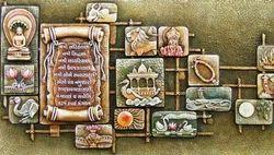 Gold Fibre Fiber Mural for Decoration