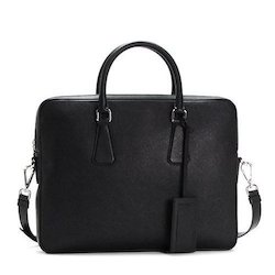a2c6a406fe13 Plain Black Ladies Leather Bag