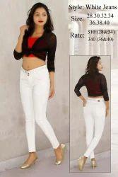 MM-21 Skinny Ladies White Jeans