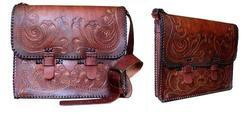 Carving Leather Messenger Bag