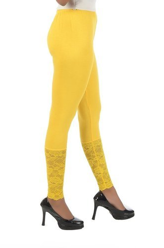 Yellow Net Leggings
