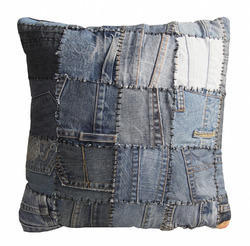 Recyled Patch Work Denim Pillow