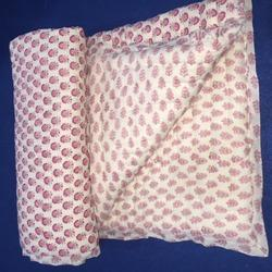 Soft Pink Block Print Baby Quilts