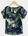 Girls Rayon Printed Sleeveless Tops