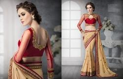 Dark Knitting Ghagra Saree