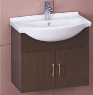 Superbe Cera Wooden Vanity Cabinet Wall Hung Wash Basin CAB 1028