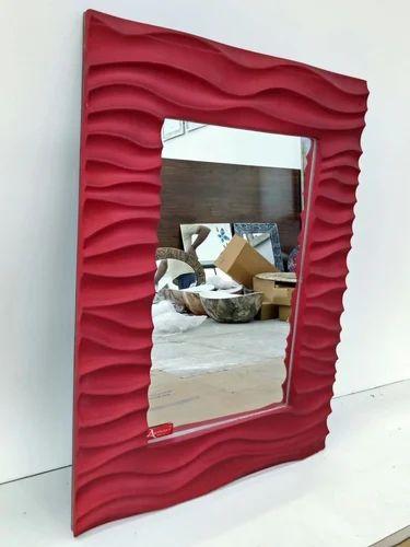 Zik Zak Red Bathroom Mirrors