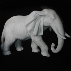 African Elephant Trunk Down In Resin Elephant_36