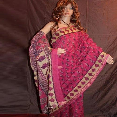 13bf6113de9 Casual Wear Bagru Hast Kala Printers Block Print Maheshwari Sarees ...