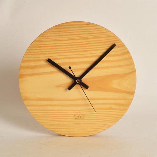 White Round Wooden Clock