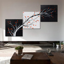 Multiple Frames Modern Abstract Painting Tree Stems