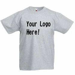 Grey Round Neck T Shirt