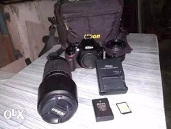Nikon D5200 With Dual Lens 18 55 70 300 Lens By Bunny Camera Pune