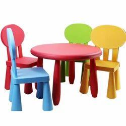 Colored Kids Plastic Chair Set