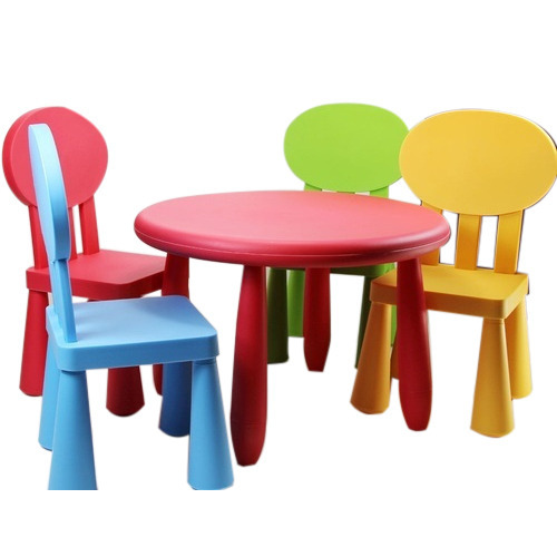Colored Kids Plastic Chair Set