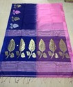 Cotton Handloom Saree With Blouse Piece, Length: 6.3 M
