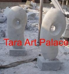 White  Marble Abstract Sculpture