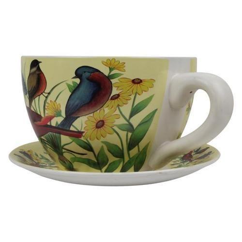 Cup And Saucer Planter Bagiche Ke Phooldan ग र डन