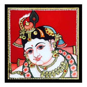 Young Krishna Tanjore Painting