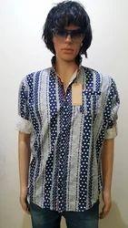 Linen Collar Neck Men''''S Designer Shirts
