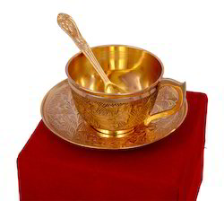 Gold Plated Tea Cup