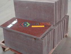 Ruby Red 10 mm Granite Tiles