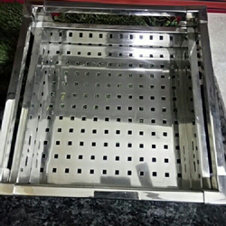 Stainless Steel Basket, Size/Dimension: 21x20x4 inch