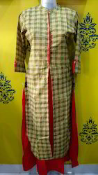 Checkers Kurti With Inner