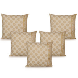 ExclusiveLane Wooden Block Printed Cotton Cushion Cover