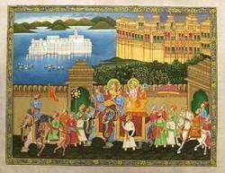 Procession Wall Painting